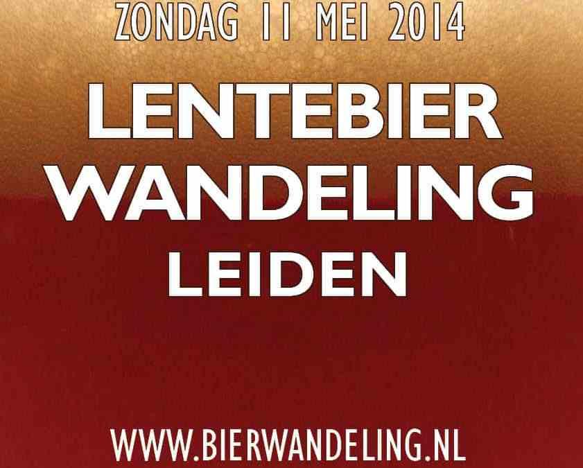 Natte, maar gezellige 3e editie van de Lentebierwandeling in Leiden