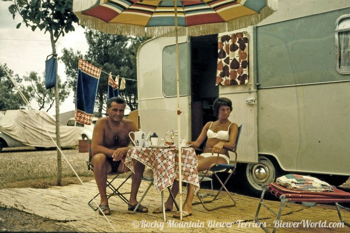 Gertrud and Werner Biewer camping in Spain