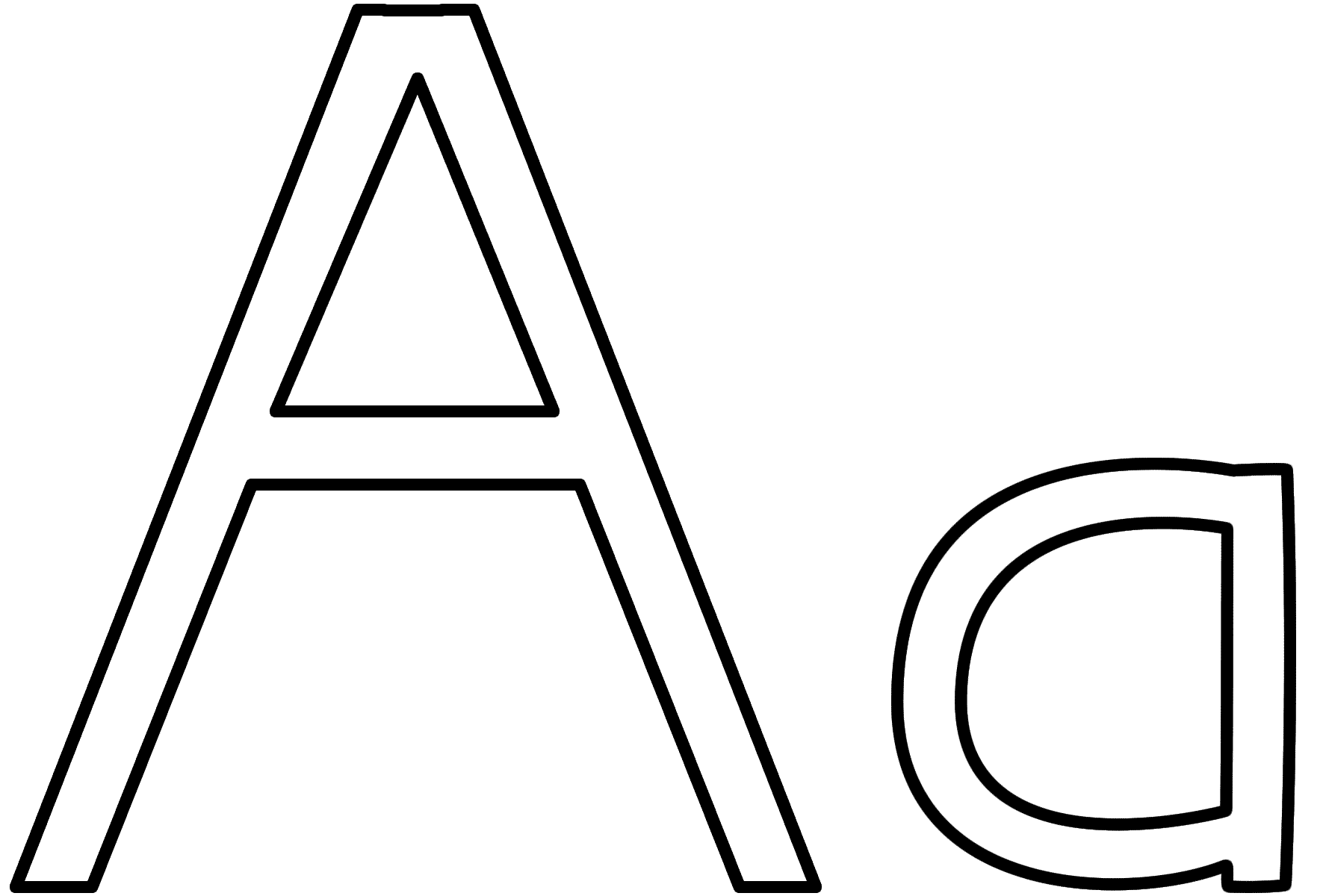 Letter Aa Coloring Pages