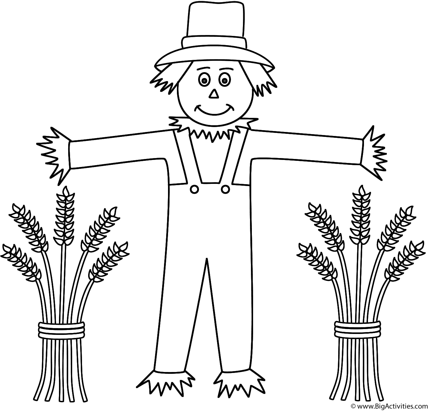 Scarecrow With Wheat Sheaves