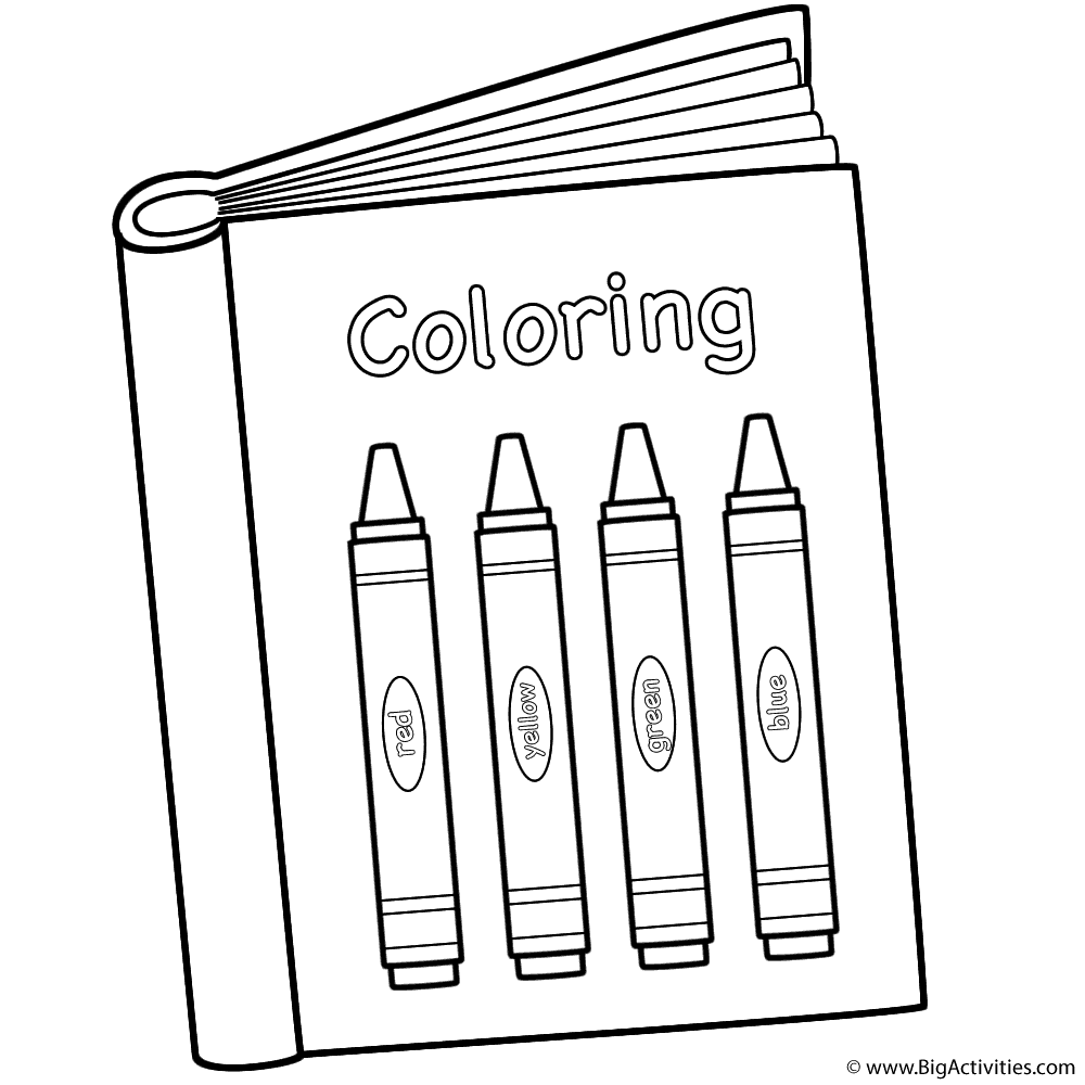 with crayons back to school