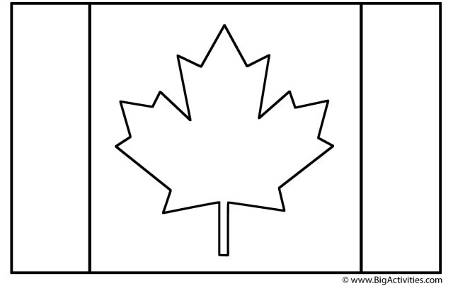 Canadian Flag - Coloring Page (Canada Day)