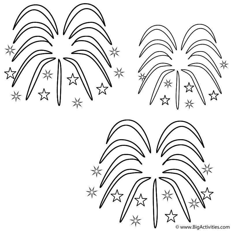 fireworks coloring pages fireworks coloring page chinese new year