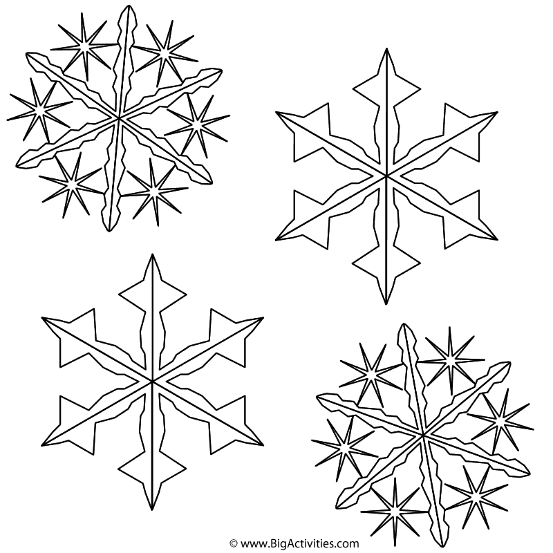 Snowflakes Coloring Page Christmas