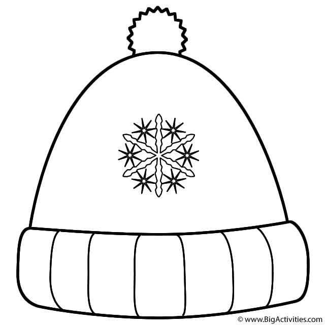 printable coloring page of a wool hat along with inverse functions