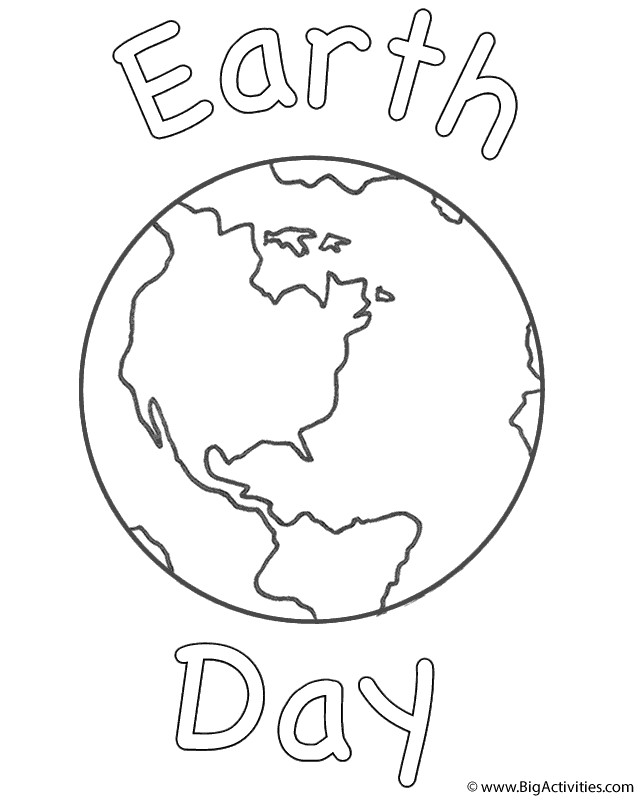 planet earth with earth day coloring page earth day