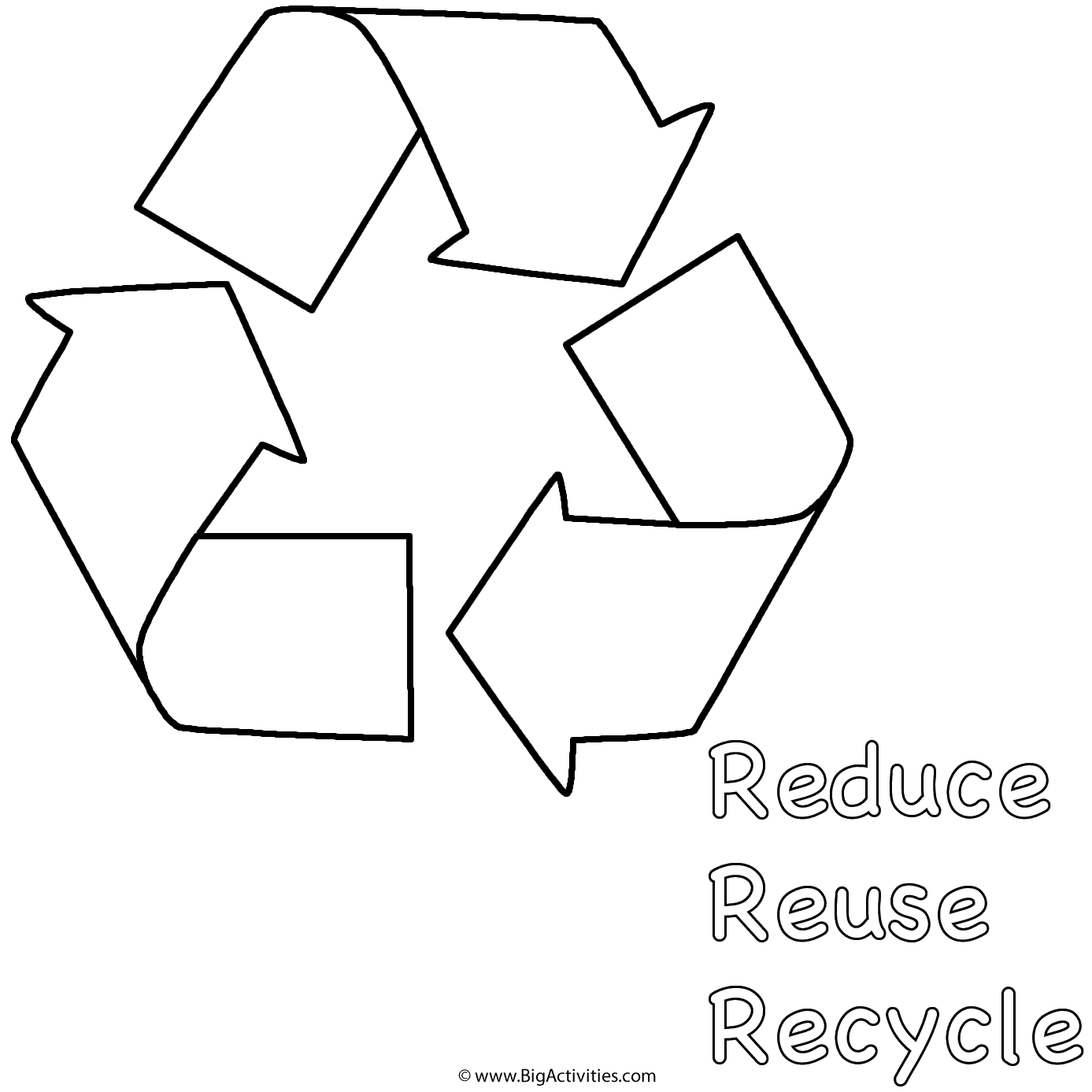 Reduce Reuse Recycle Below Symbol