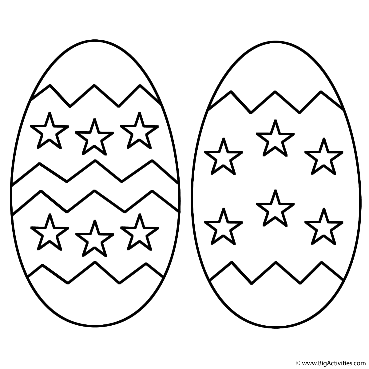 Two Easter Eggs With Stars