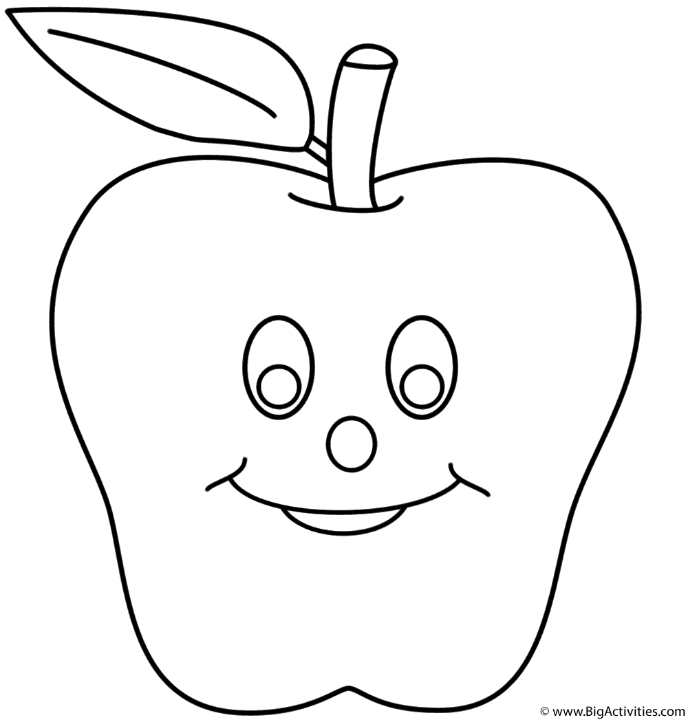 smiling apple page fruits and vegetables