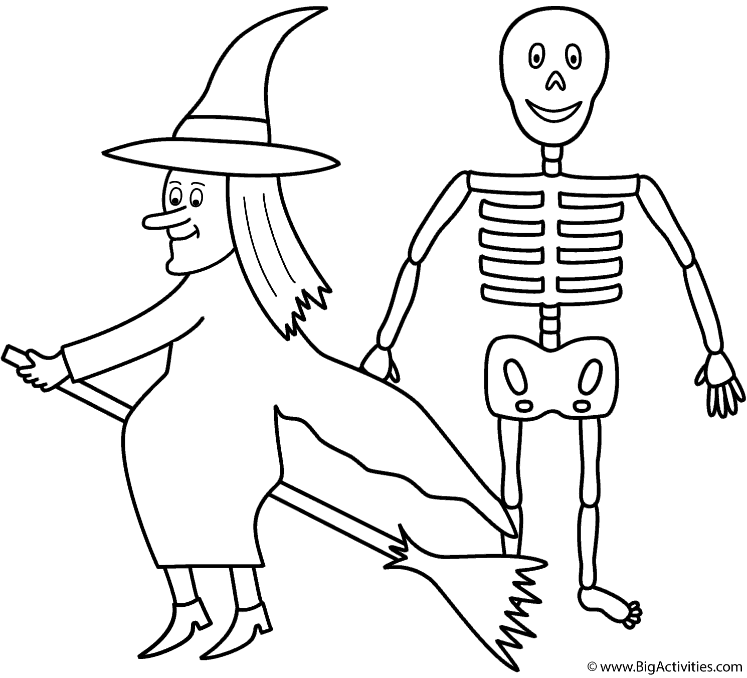 witch with halloween