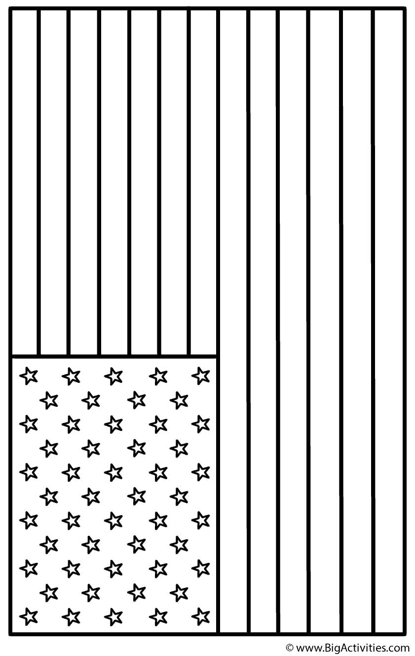 american flag landscape coloring page memorial day