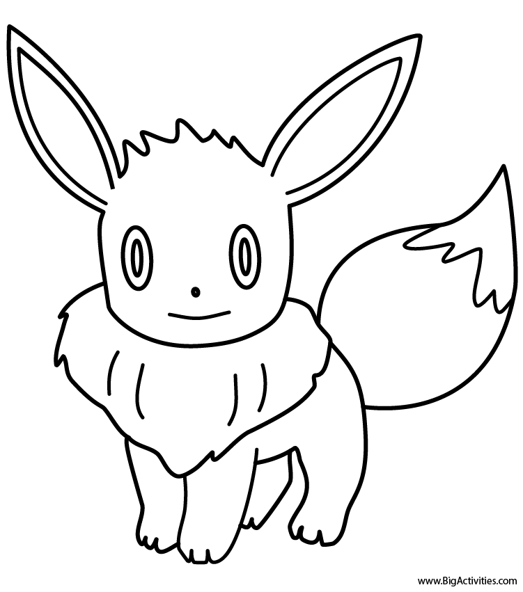eevee  coloring page (pokemon)
