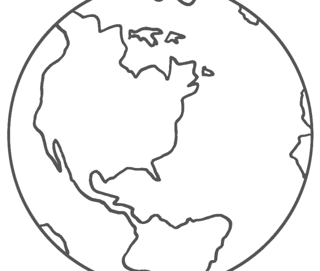 Planet Earth Coloring Page Space