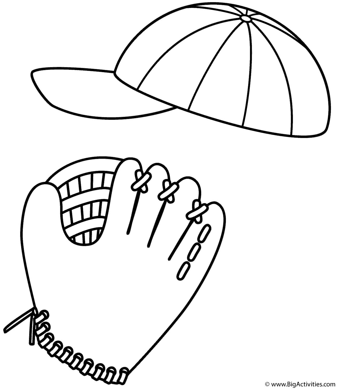 Baseball Cap And Glove