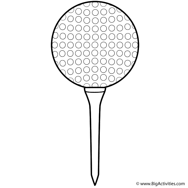 golf ball and tee page sports