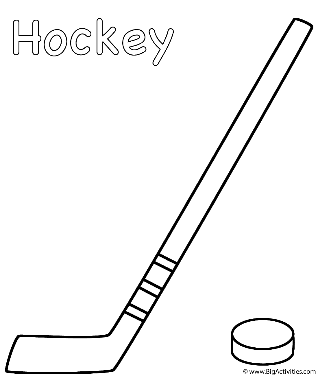 Hockey Stick With Puck