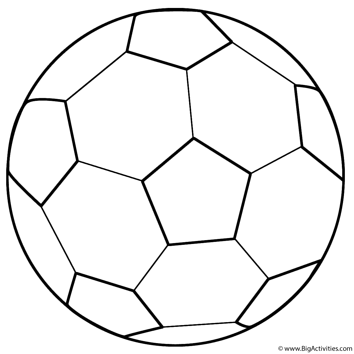 soccer ball coloring page sports