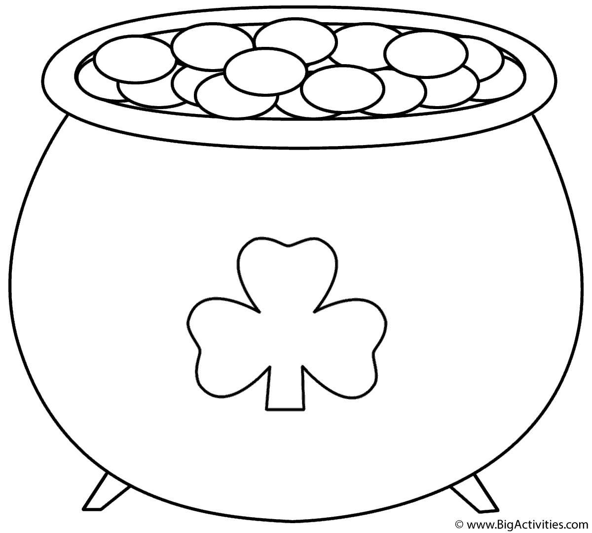 pics photos shamrock coloring pages st patrick s day