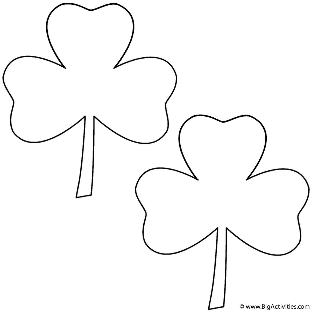Three Leaf Clovers 2 Clovers