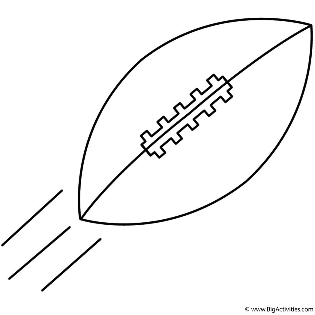 football in air coloring page super bowl