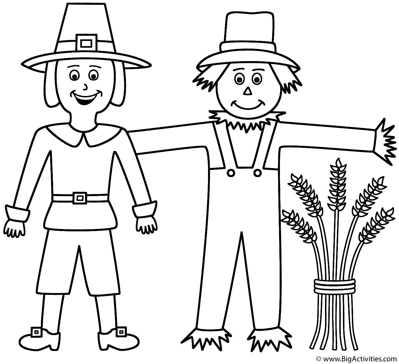 Pilgrim With Scarecrow