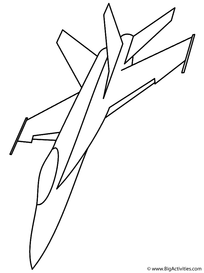 f 18 fighter jet coloring page transportation