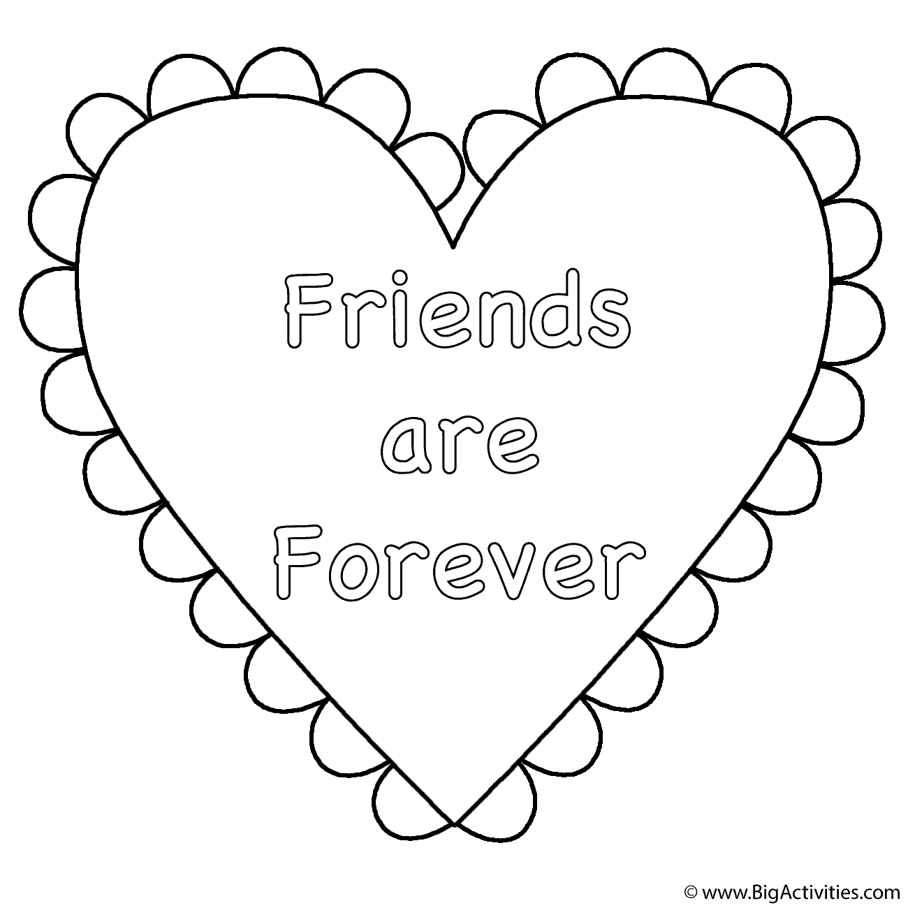 Heart Friends Are Forever