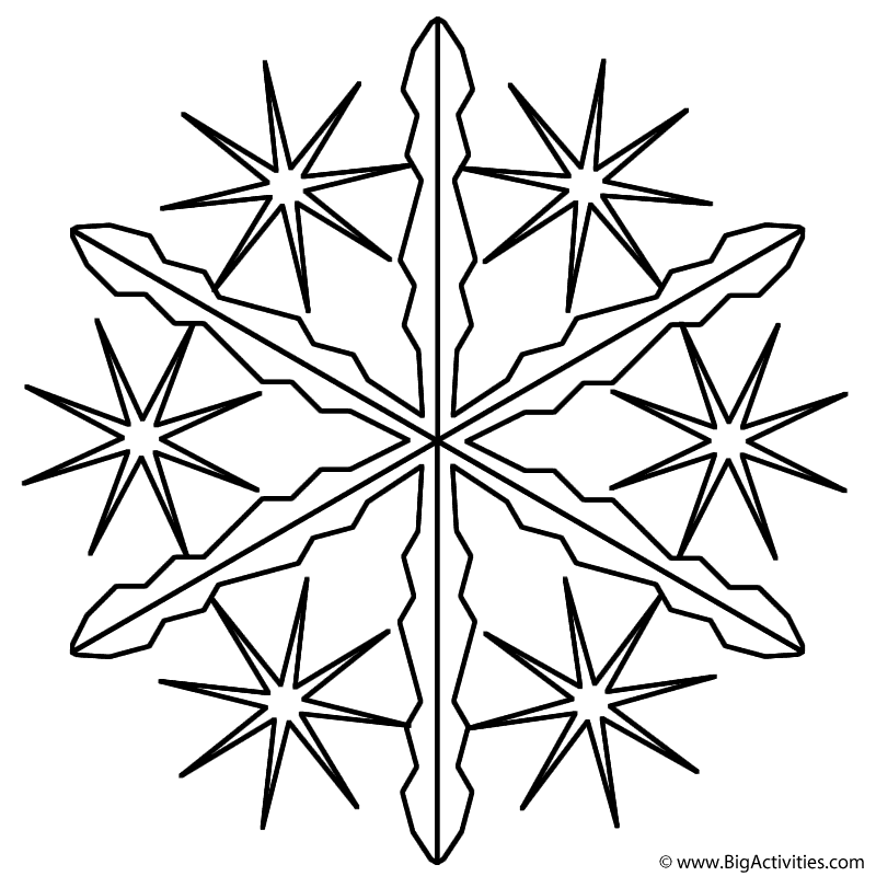 snowflake 2 coloring page winter