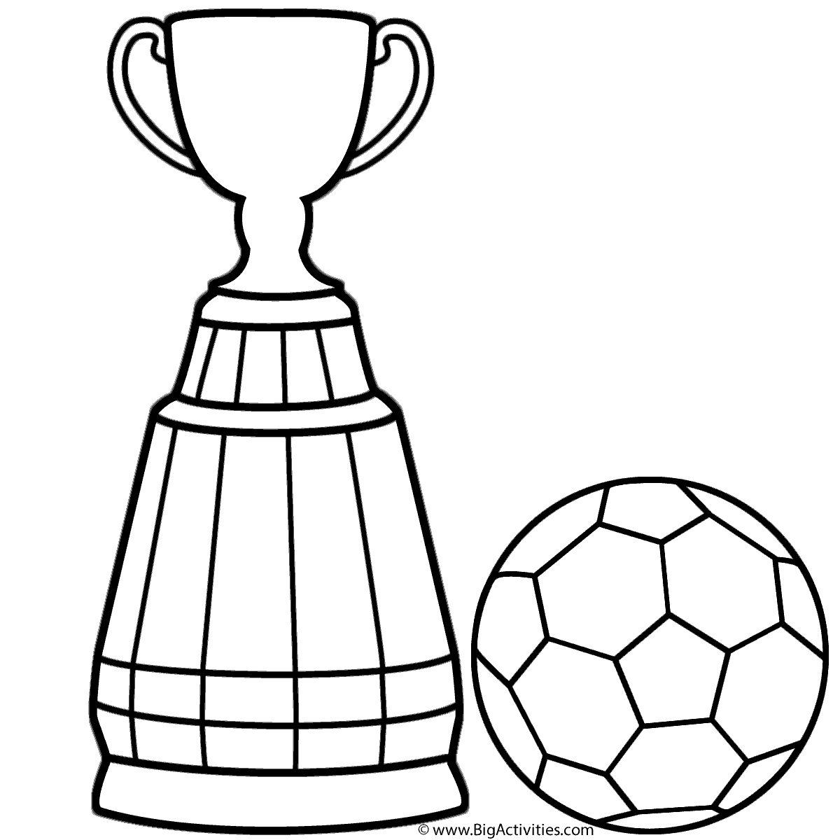 World Cup Trophy With Soccer Ball