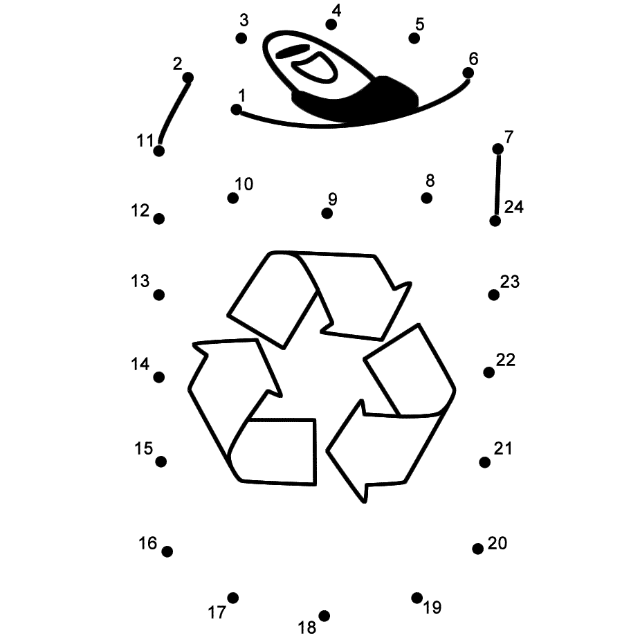 Drink Tin To Recycle Connect The Dots Count By 1s