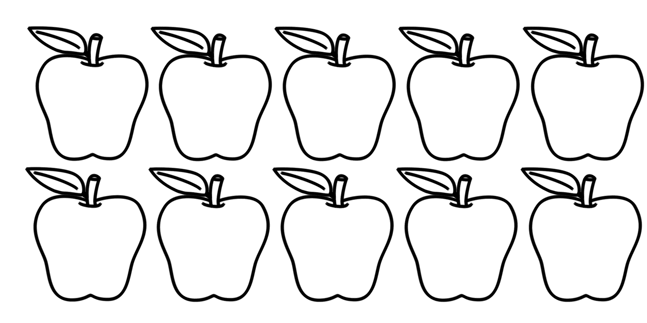 Ten Apples Up On Top Coloring Pages Coloring Pages