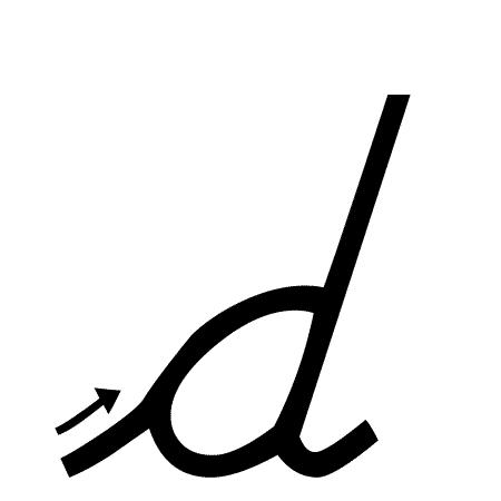 Lowercase D Handwriting Worksheet Trace 1 Write 1