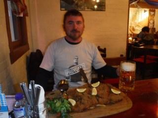 Big Angry Trev VS the 1.5kg Pork Schnitzel!