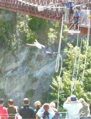 Video: Big Angry Trev Bungy Jumps!