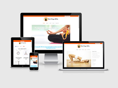 responsive yoga shop design