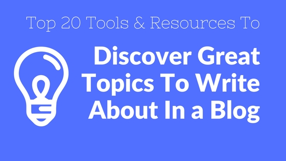 tools to discover topic ideas