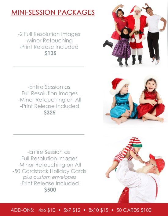 Santa Session Pricing