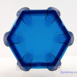 Retro mod party ashtray made by Viking Art Glass. The patented 'Bluenique' color looks like a dark sapphire jewel.