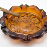 Huge ashtray made by Tiara Glass in 1976. Tiara was a distributor of American made glassware made by Indiana Glass and others.