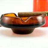 Bohemian crystal ashtray circa 1940's. Quality vintage leaded glass.