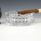 Antique High Quality Crystal Ashtray by Duncan Miller, USA. Premium antique high quality crystal ashtray made between 1889 - 1904 by Duncan Miller, USA.