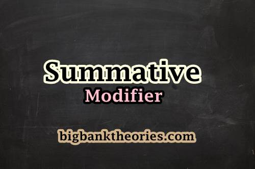 Contoh Kalimat Summative Modifier