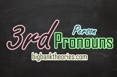 Third Person Pronouns List