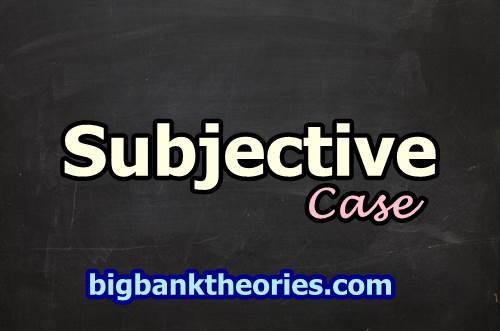 Contoh Subjective Pronoun