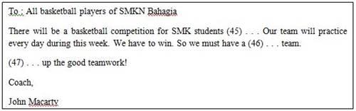 Contoh Teks Announcement Dalam Soal UN Bahasa Inggris SMK