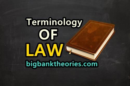 Legal Terms Dalam Bahasa Inggris