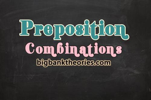 Contoh Preposition Combinations