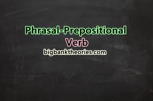 Multi Word Verbs List