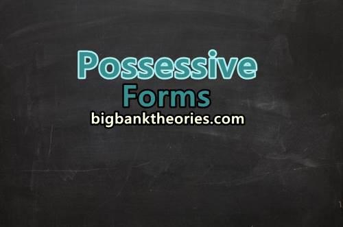 Pengertian Possessive Forms Serta Contoh Kalimatnya