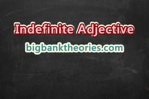 Contoh Kalimat Indefinite Adjective